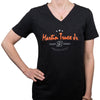 "#19 Ladies Martin Truex Jr. Ladies Black ""Relentless"" V-Neck Tee"