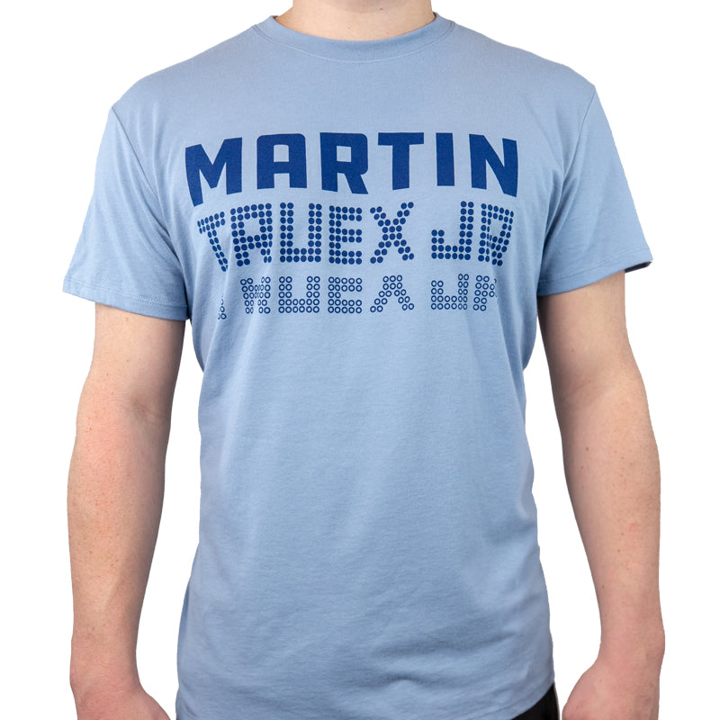 bc5d8e0b9 #19 Martin Truex Jr. Auto-Owners Insurance Men's Slate Blue Tee