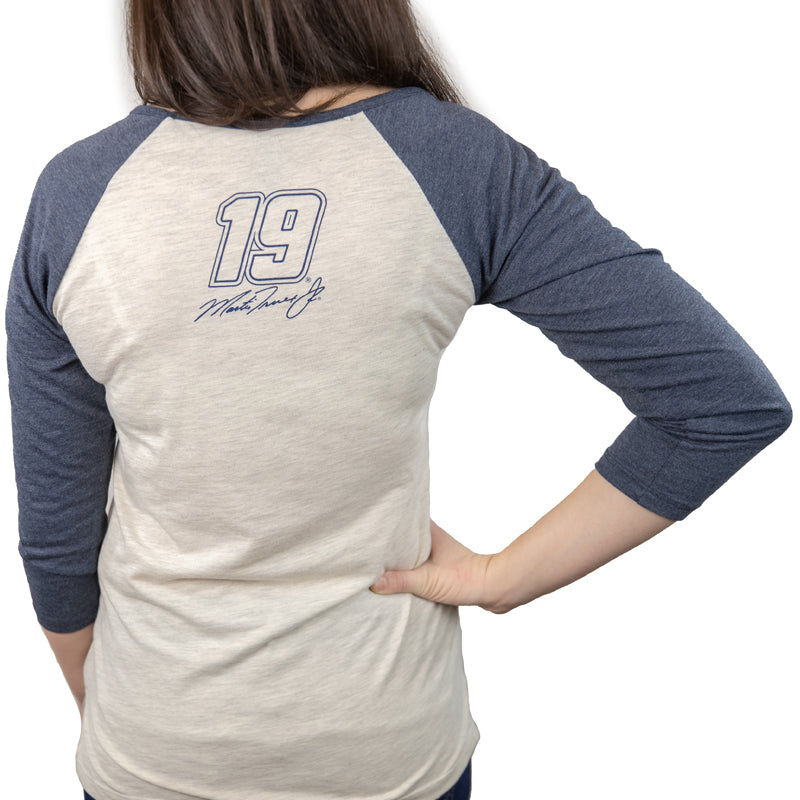 #19 Martin Truex Jr. Auto-Owners Ladies Raglan Tee (S,M,L,XL available)