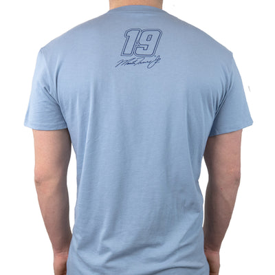 #19 Martin Truex Jr. Auto-Owners Insurance Men's Slate Blue Tee - martin-truex-jr-retail-store