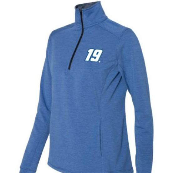 Martin Truex Jr. #19 Ladies 1/4 Zip Pullover - martin-truex-jr-retail-store