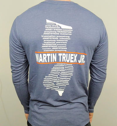 #19 MTJ Jersey Strong Blue Long Sleeve Tee - martin-truex-jr-retail-store