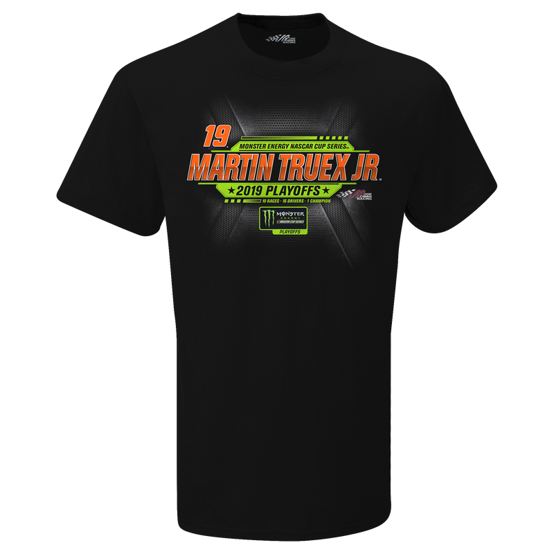 Men's Martin Truex Jr Black Bass Pro Shops 2019 Monster Energy NASCAR Cup Series Playoffs T-Shirt
