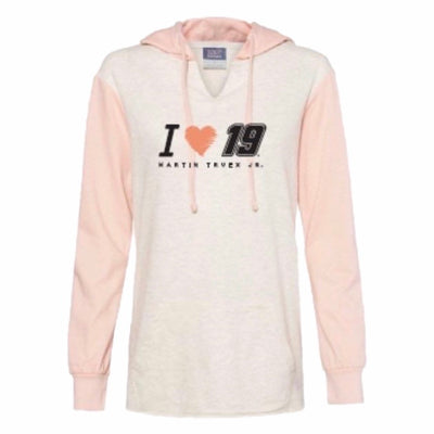 2020 Martin Truex Jr. Heartstrings Ladies Lightweight Hoodie - Martin Truex Jr. Retail Store
