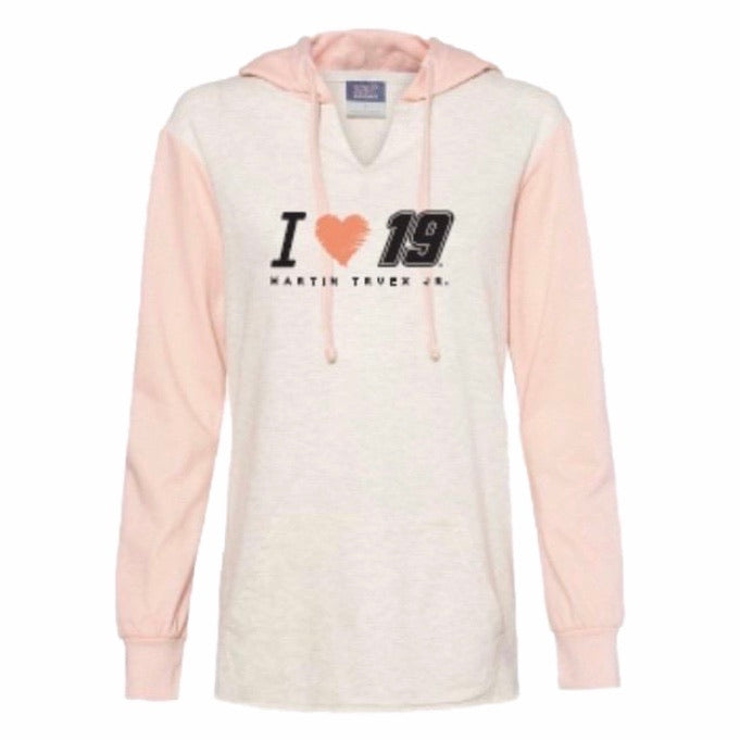 2020 Martin Truex Jr. Heartstrings Ladies Lightweight Hoodie