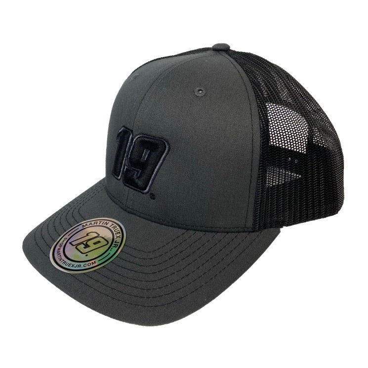 2020 #19 Martin Truex Jr. Flat Black Trucker Hat