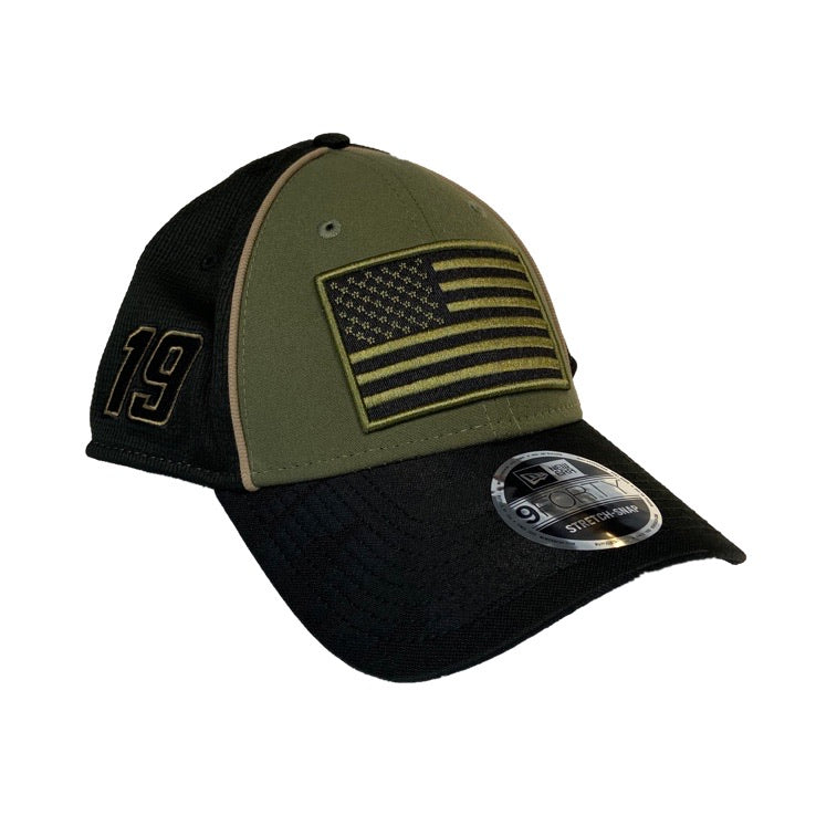 2020 Martin Truex Jr. #19 New Era Military Salute Hat (Snapback)