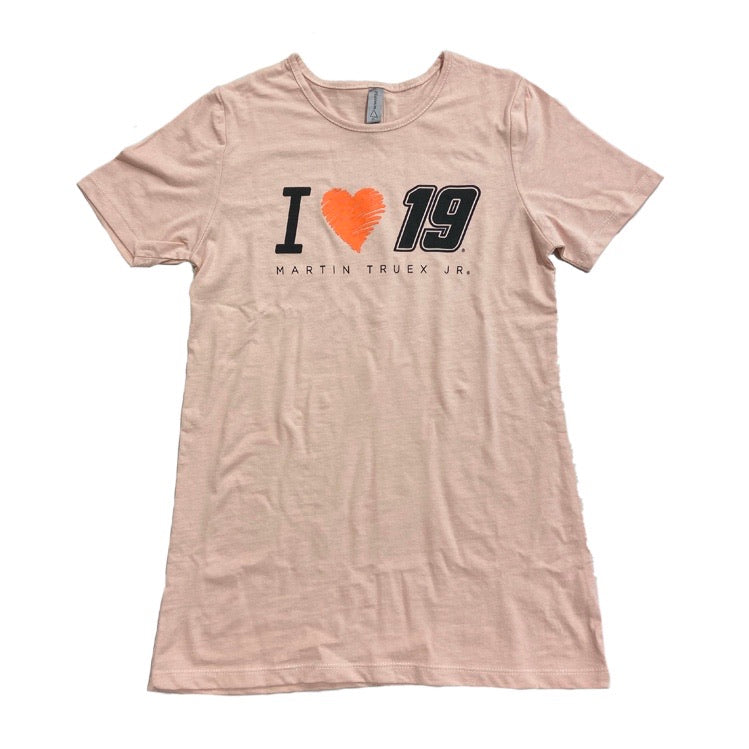 2020 Martin Truex Jr. #19 Blush Pink Heartstrings Tee