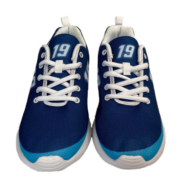 PRE-ORDER 2020 #19 Martin Truex Jr. Men's Navy Shoes