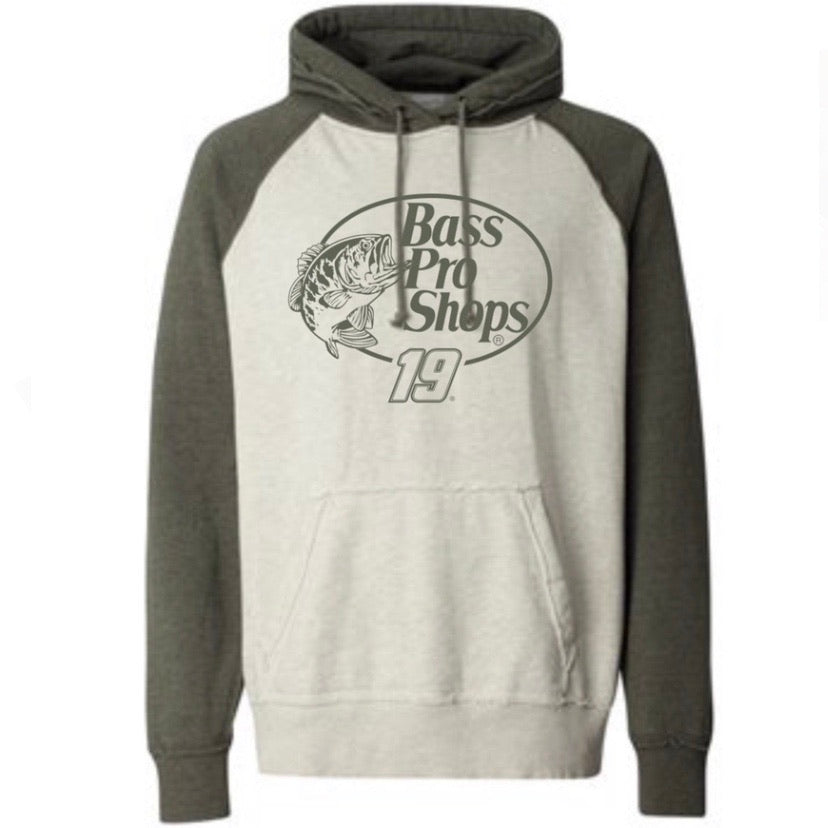 #19 Martin Truex Jr. Men's Two-Tone Hoodie
