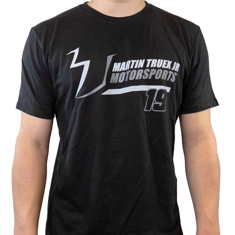 #19 Jersey Strong MTJ Motorsports Black (Large & 3XL) Tee (L, 3XL available) - martin-truex-jr-retail-store