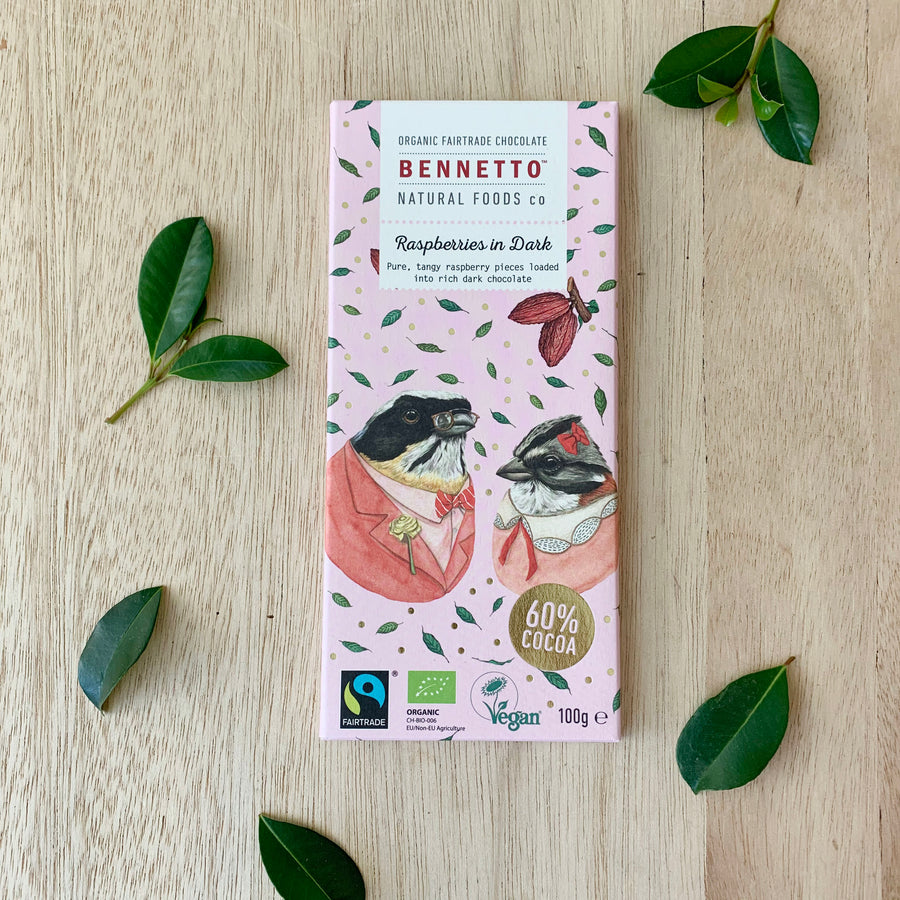 Bennetto Raspberries in Dark Chocolate - Adelaide Gift Delivery