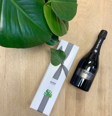 Monstera Plant and Hentley Farm Champagne Gift Delivery - Sleek and Unique Gifts