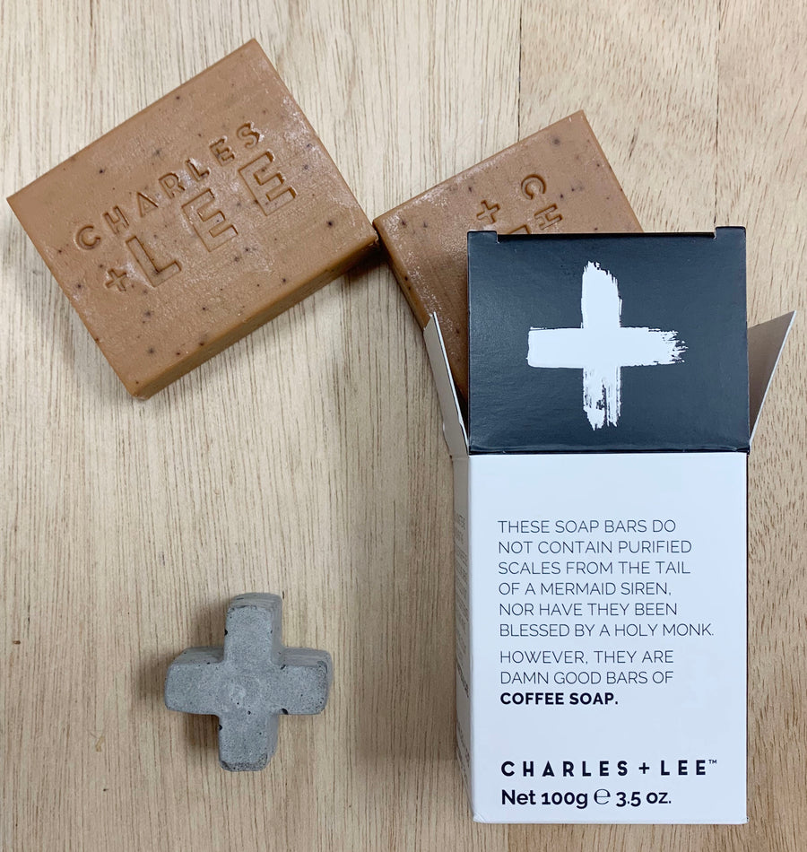 Charles + Lee Coffee Soap Bars - Sleek and Unique Gifts