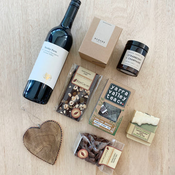 Red Wine and organic goodies gift delivery