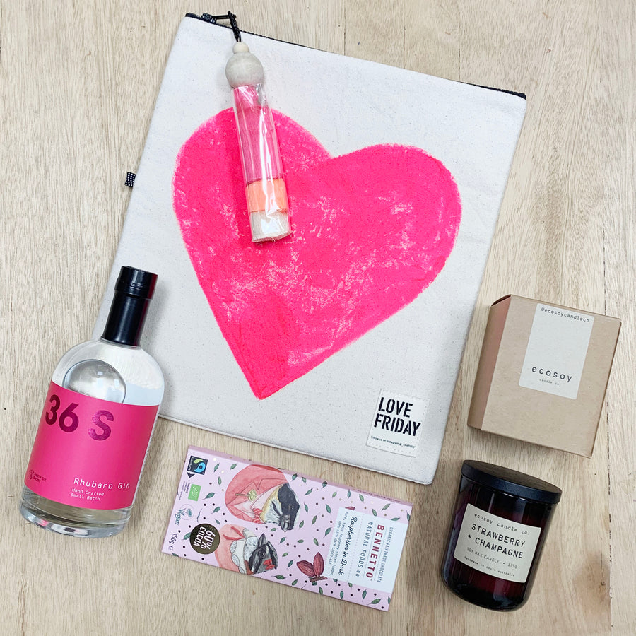 36 short gin and Love Friday Insulated Bag - Gift Delivery Adelaide