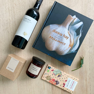 Donna Hay cook book & Hentley Farm red wine gift box