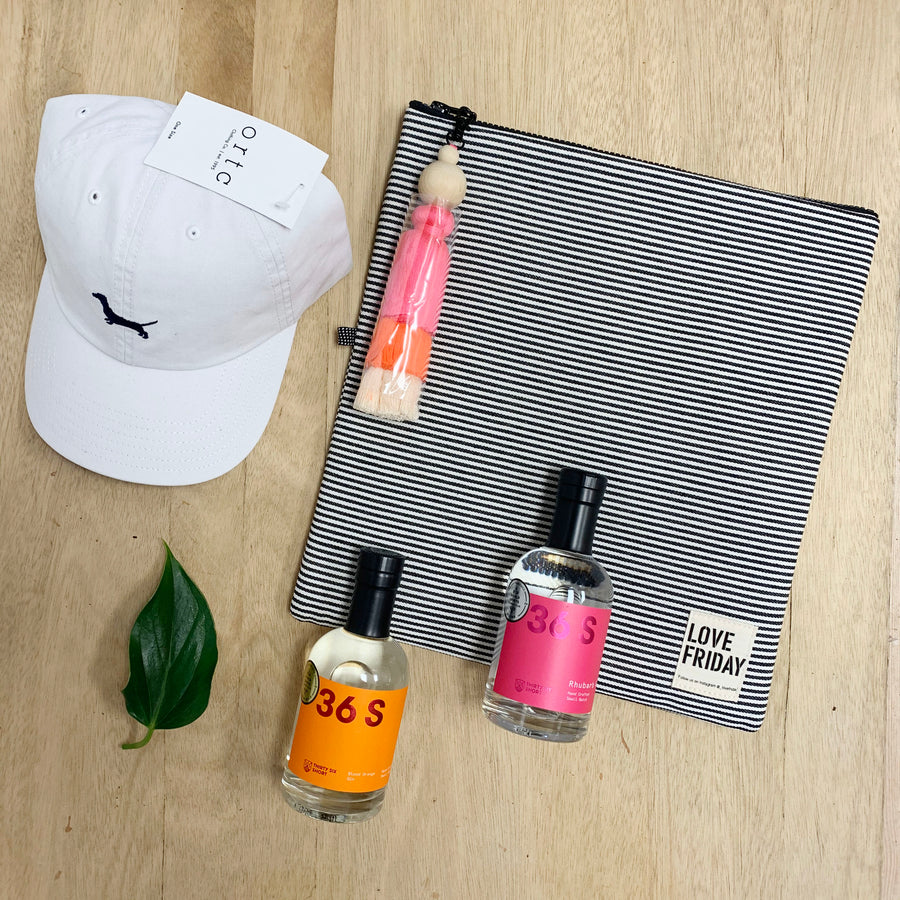 Love Friday Insulated Bag, ORTC Cap and 36 Short Gin Gif Box - Gift Delivery Adelaide