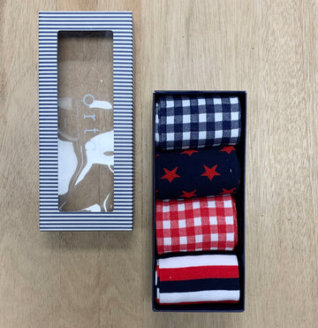 Navy and Red ORTC Sock Gift Pack - Sleek and Unique Gifts