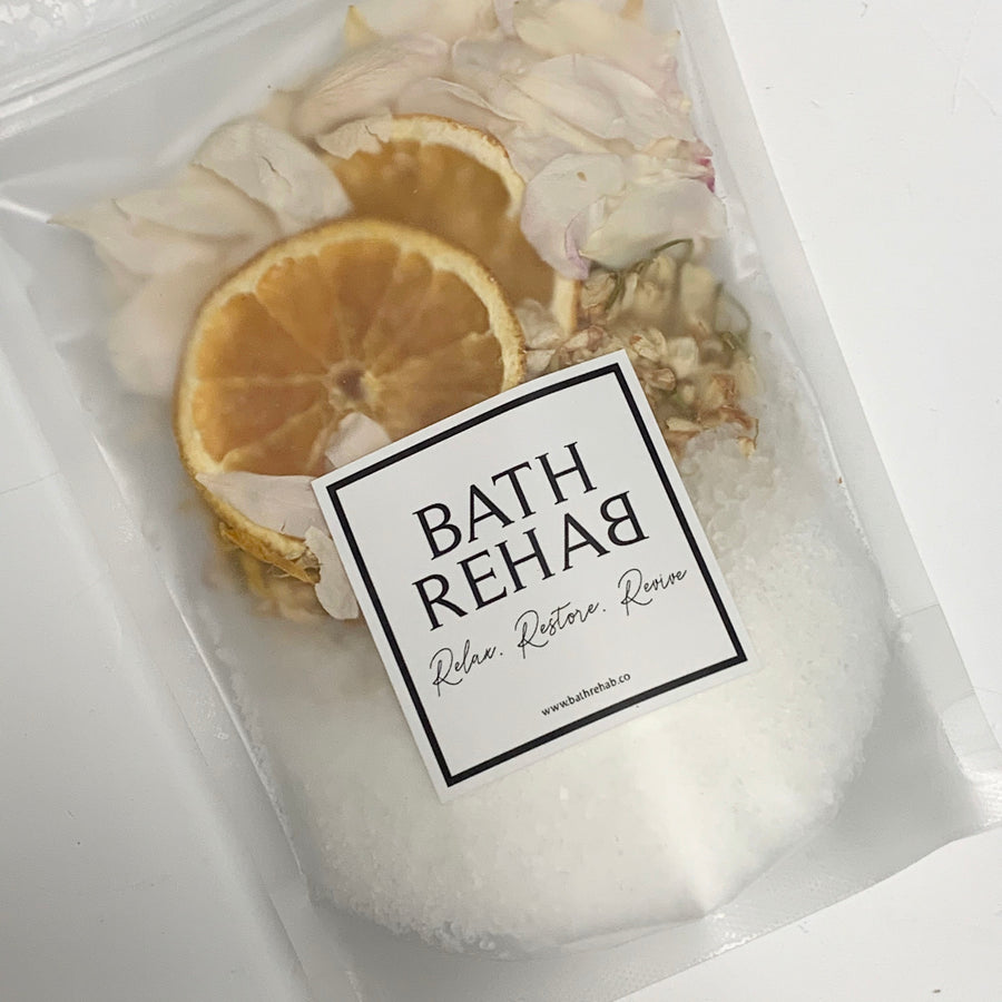 Citrus Bath Soak and petals - Adelaide Gift Delivery