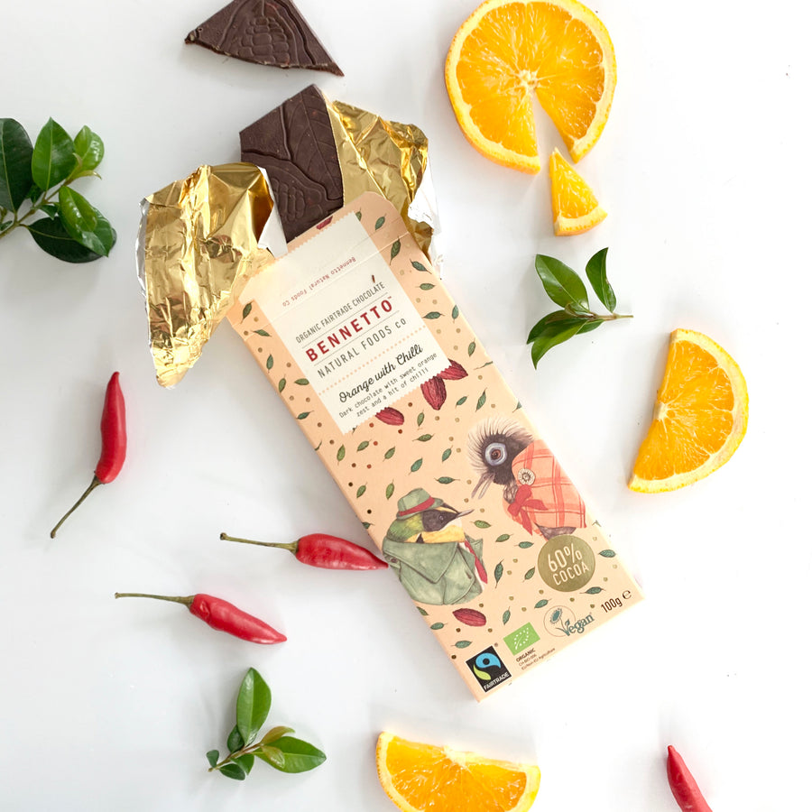 Bennetto Orange and Chilli Chocolate Gift -  Sleek and Unique Gifts