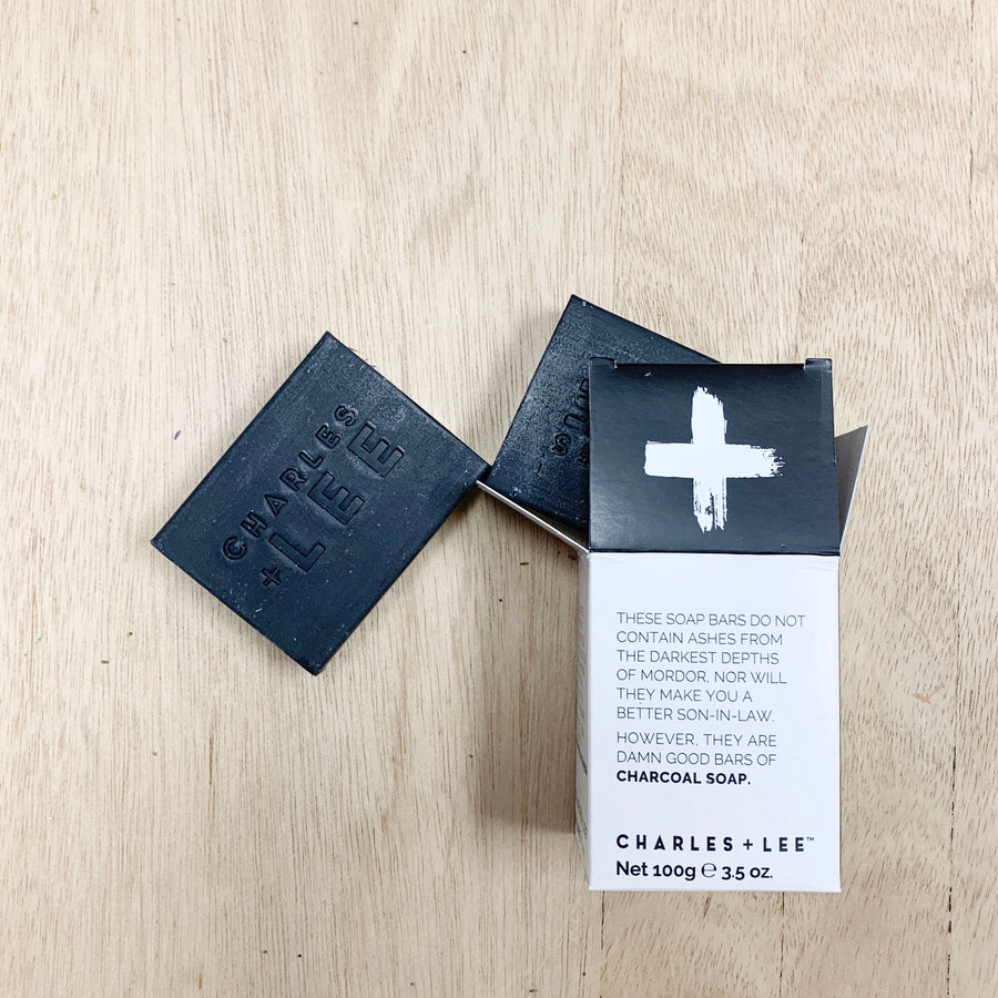 Charles + Lee Charcoal Soap Bars  - Gift Delivery Adelaide