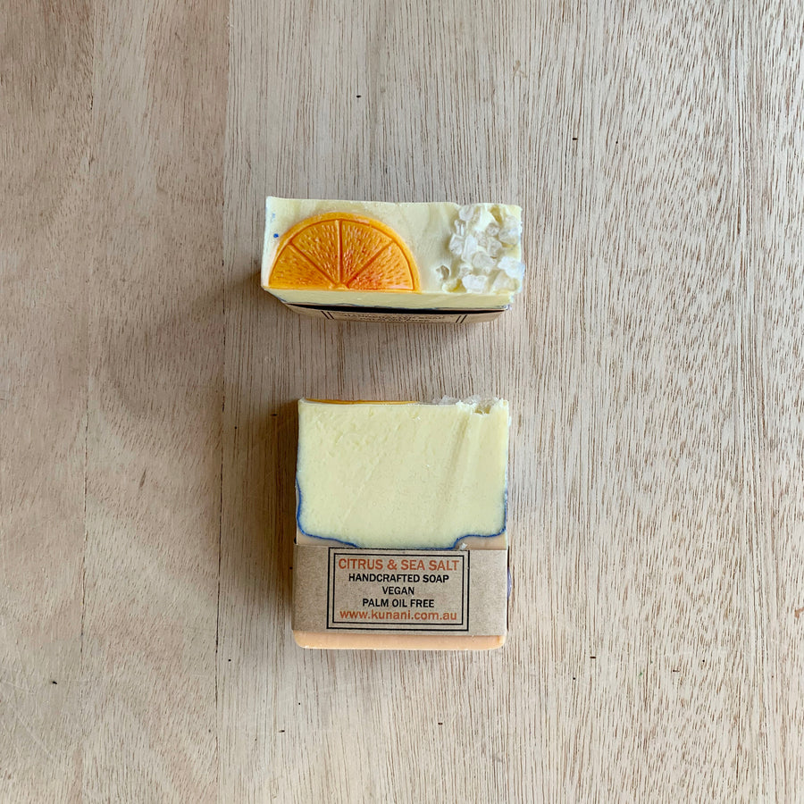 Citrus and Sea Salt Soap by Kunani - Sleek and Unique Gifts
