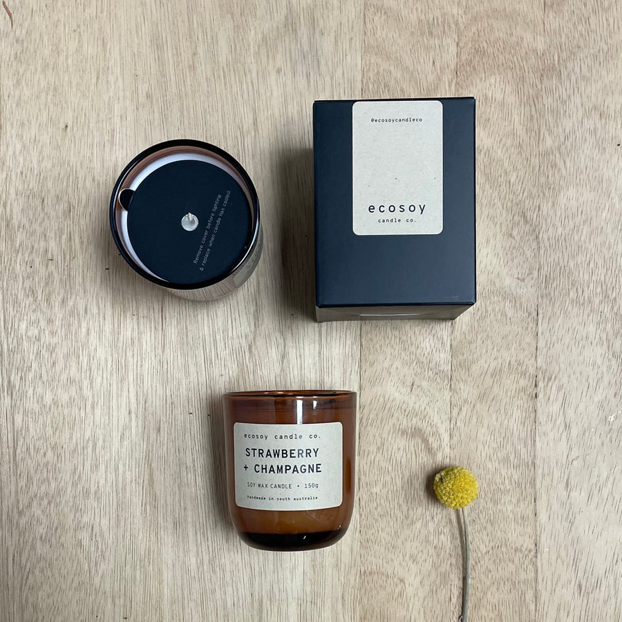 Eco soy natural candle locally created - Gift Delivery Adelaide