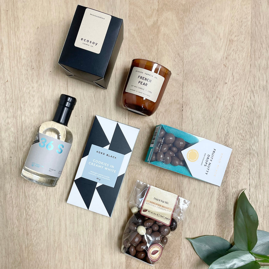 Classic 36 Short Gin and Koko Black Chocolate All Occasion Gift Box - Gift Delivery Adelaide