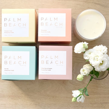 Adelaide Gift Delivery - Large Deluxe Palm Beach Soy Candle - Sleek and Unique Gifts