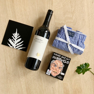 Mens Gift Box Red Wine & Boxers - Australia Wide Delivery