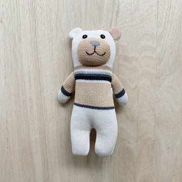 'Charlie' the knitted bear teddy for newborn baby boy or baby girl - Adelaide Gift Delivery