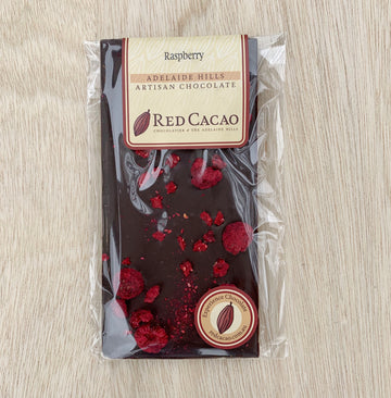 Red Cacao Raspberry Chocolate Tile - Sleek and Unique Gifts