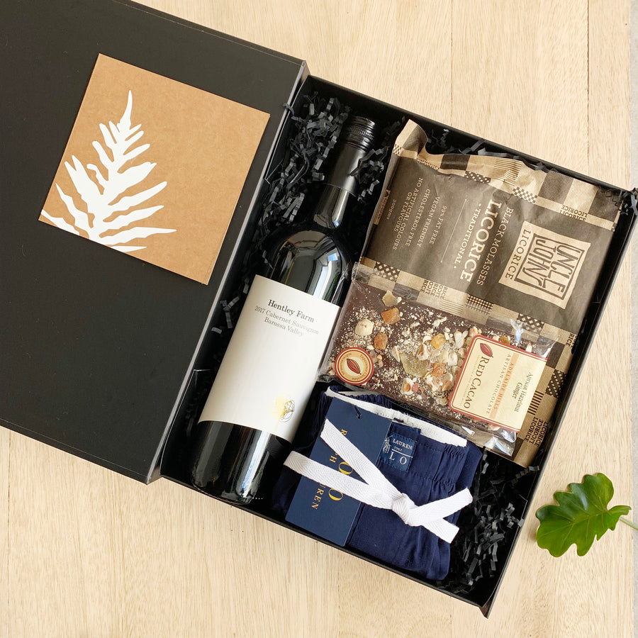 Mens Gift Box Red Wine and licorice - Australia Gift Delivery