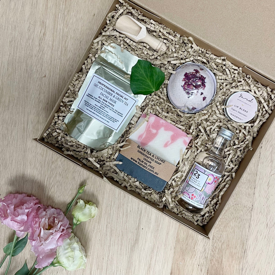 Female Luxury Gift Box with Rose Petals and Vodka - Sleek and Unique female gifts