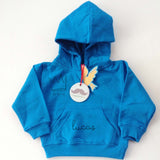 Sudadera bebe Capucha Azul The King