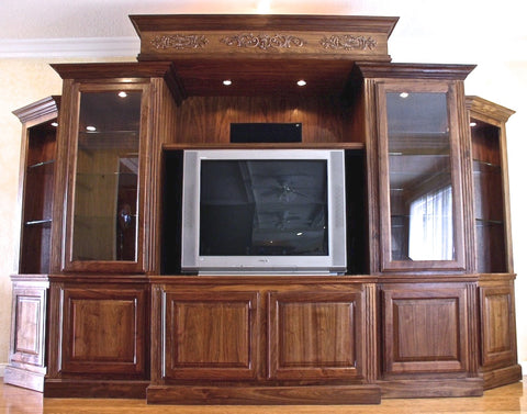 Walnut Entertainment Center built in 2003