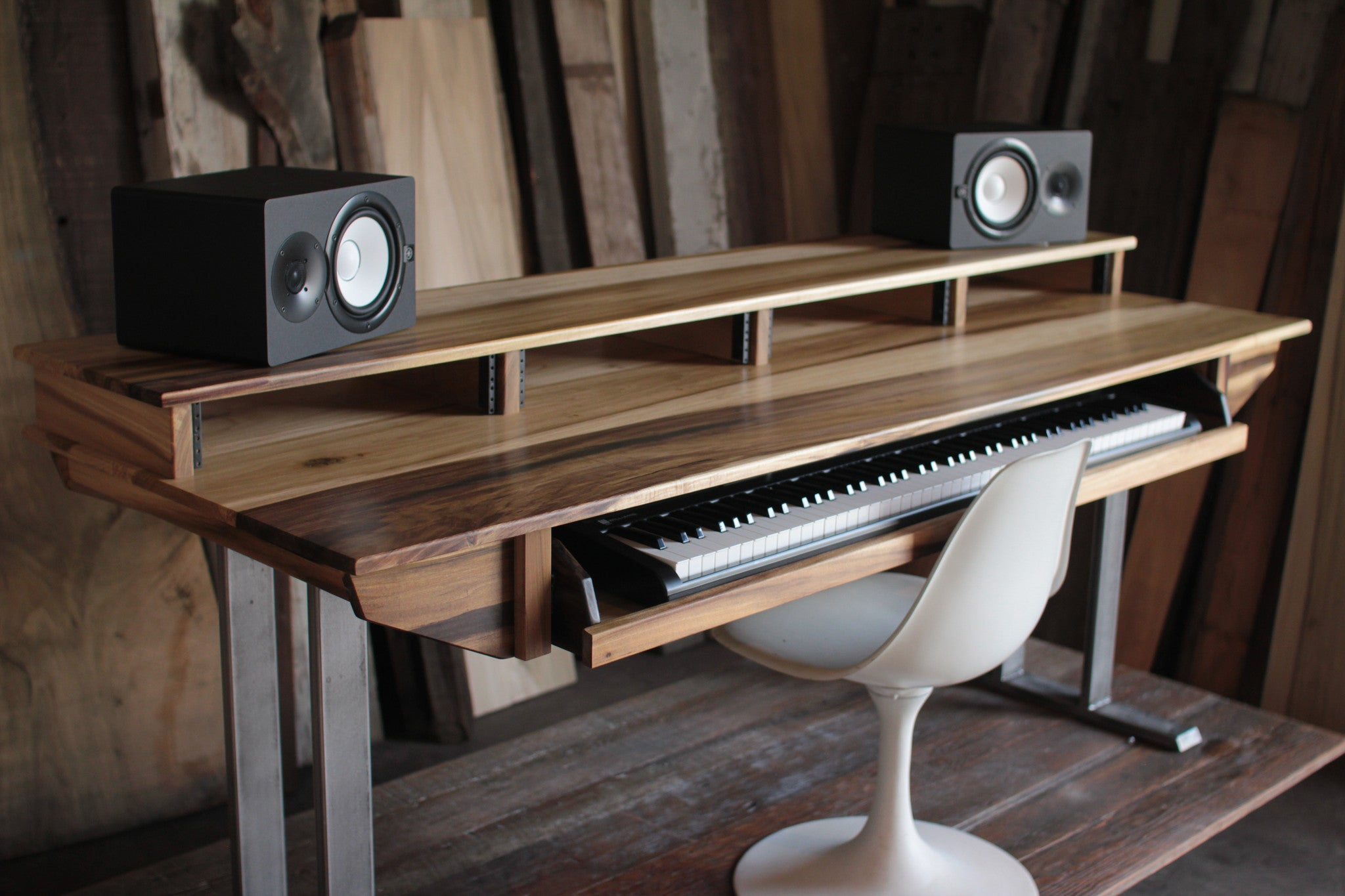 Full Size 88key Studio Desk For Audio Video Music