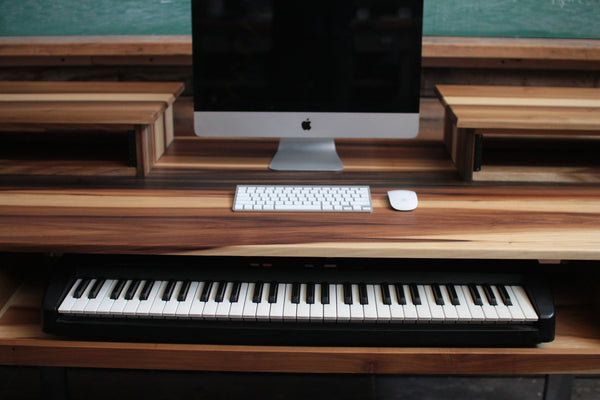 Mid Size 61 Key Studio Desk For Audio Video Music