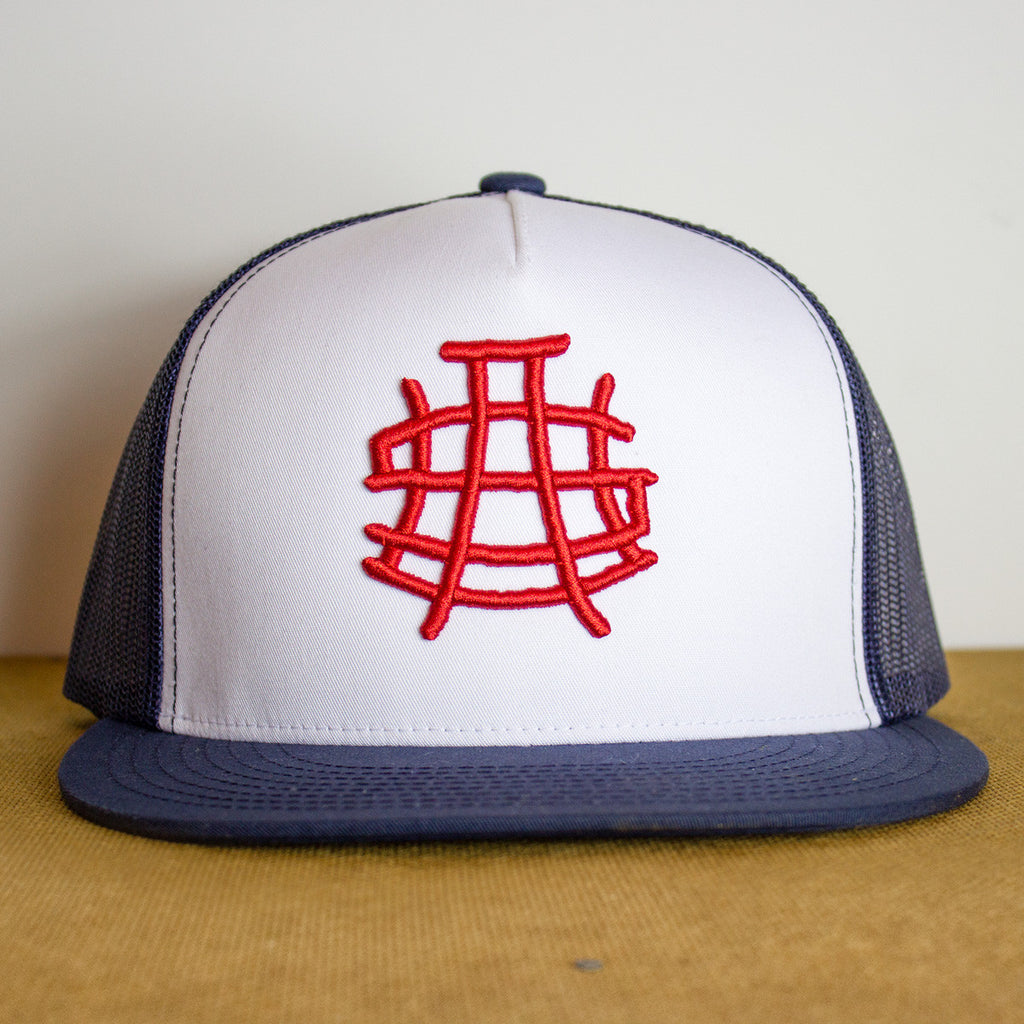 USA Navy & White Snapback Hat