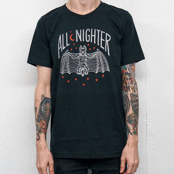 All-Nighter Vintage Black T-Shirt