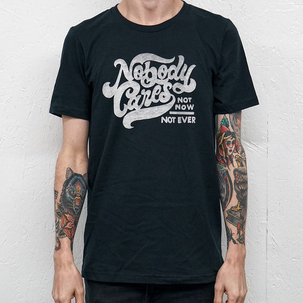 Nobody Cares Vintage Black T-Shirt