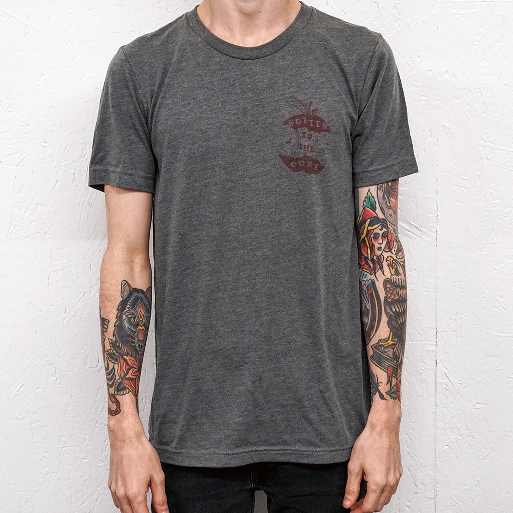 Rotten to the Core Heather Grey T-Shirt