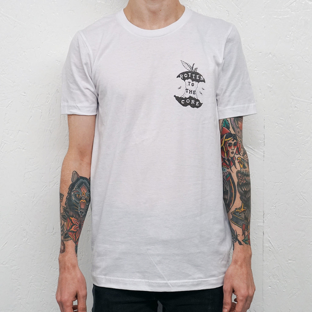 Rotten to the Core White T-Shirt