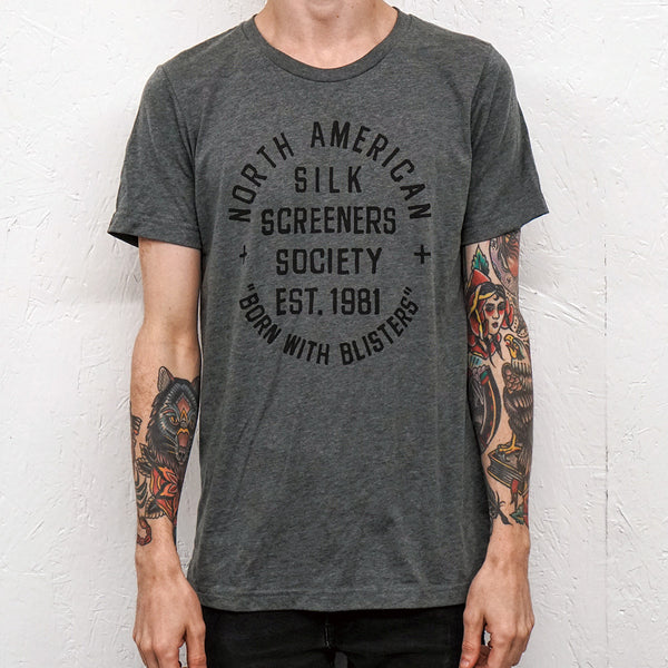 Silk Screeners Society Heather Grey T-Shirt