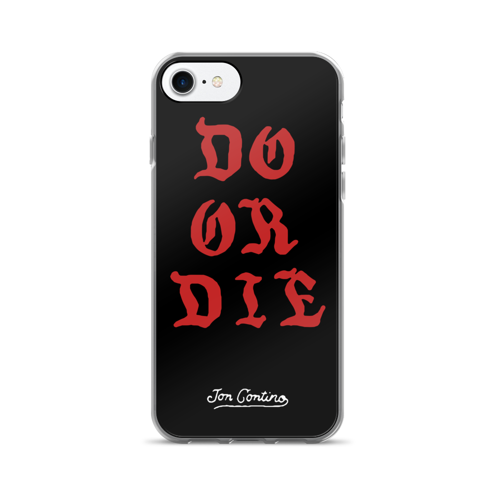 Do or Die iPhone case