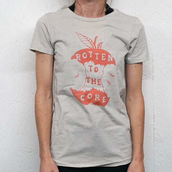 Rotten to the Core Cream Womens T-Shirt