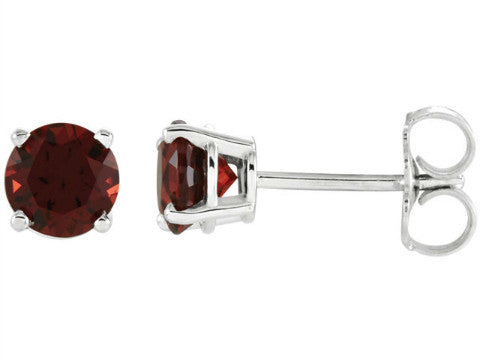 NEW Birthstone Stud Earrings in 14K White Gold