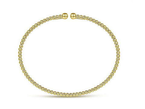 Beaded Fashion Bangle in 14K Yellow Gold