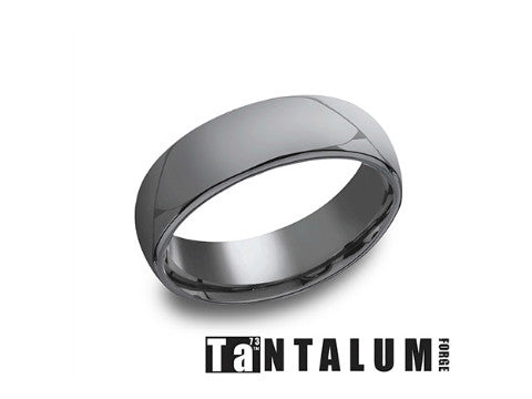 High Polished Tantalum Wedding Band